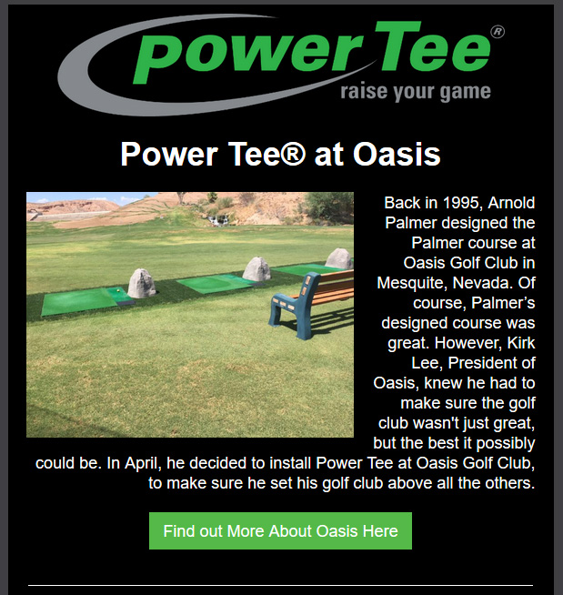 Power Tee informational flyer